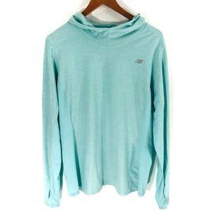 1cff54d02a6f2 New Balance Tops - New Balance | Teal Long Sleeve Hooded Shirt (E06)